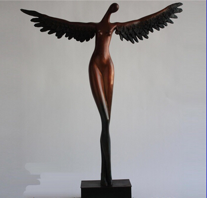 xd 002401 Abstract Art Western Pure Bronze Copper Home Decoration Sculpture Angel Statue