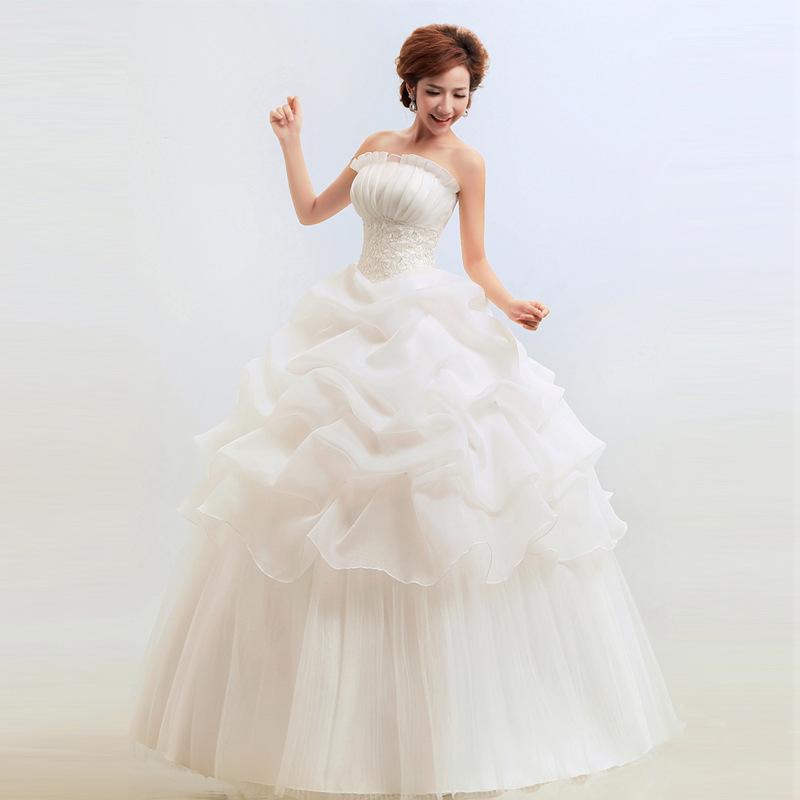 Wedding Dresses Under $50 Strapless Korean Cheap Wedding