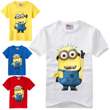 Children t shirts Despicable me Minions Clothes T Shirts For Girls Boys t-shirts Kids Short Sleeve Tee Baby Children's Clothing