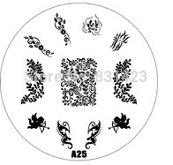 2015 new A Series A25 Nail Art Polish DIY Stamping Plates Image Templates Nail Stamp Stencil