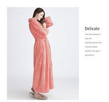 Новый Зимний халат, женский сексуальный Свободный домашний халат, пижама, ночная рубашка, одежда для сна, коралловый бархат, длинный халат, ж...(Китай)