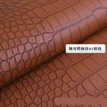 100*138 см крокодиловая ПВХ искусственная кожа ткань для обуви сумка для багажа DIY аксессуары ремесло 0,8 мм искусственная Синтетическая кожа ...(Китай)