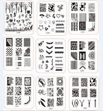 10PCS LOT Available DIY Polish Beauty Charm Nail Stamp Stamping Plates 3d Nail Art Templates Stencils