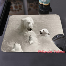 High Quality Swimming Polar Bears Customized Mouse Pad White and Cute Computer Notebook Laptop Gaming Mice Mat Pad