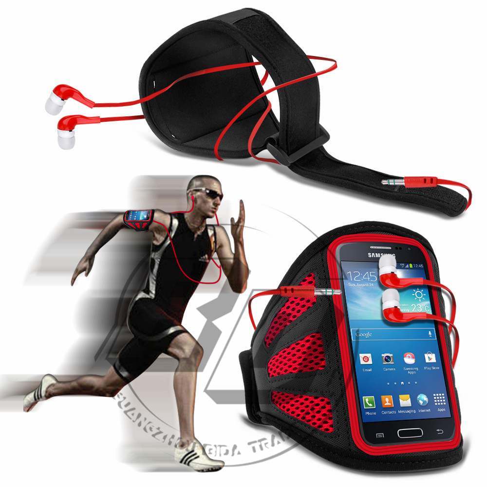 Для Samsung Галактика ядро G3518 сетки отверстия дыхательные сотовый телефон работает спорт повязки пояса сумки чехол чехол для наушников