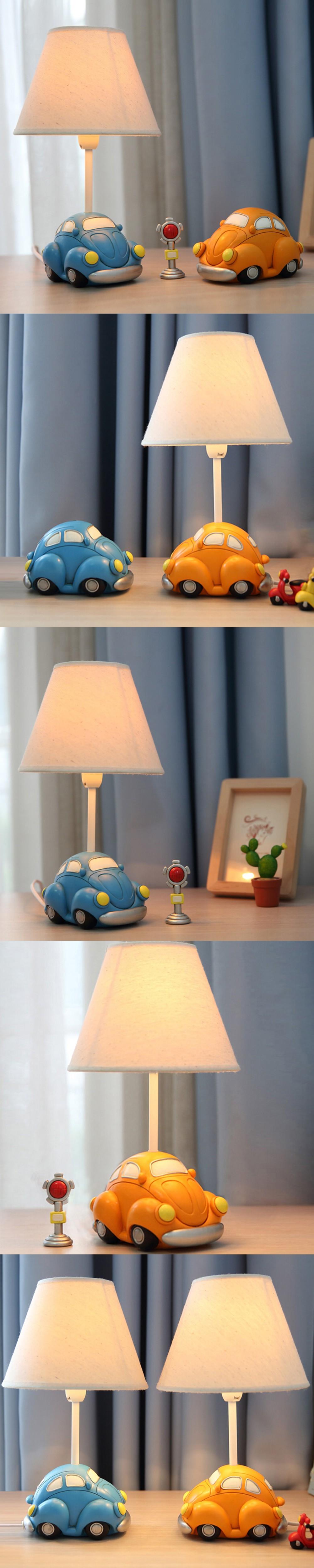 Lovely Car Model Kids Table Lamp E14 Ac 110v-220v Children Room Led Desk Lamp Reading Lamp Led Switch Button Bedside Lamp Lamps & Shades Lights & Lighting