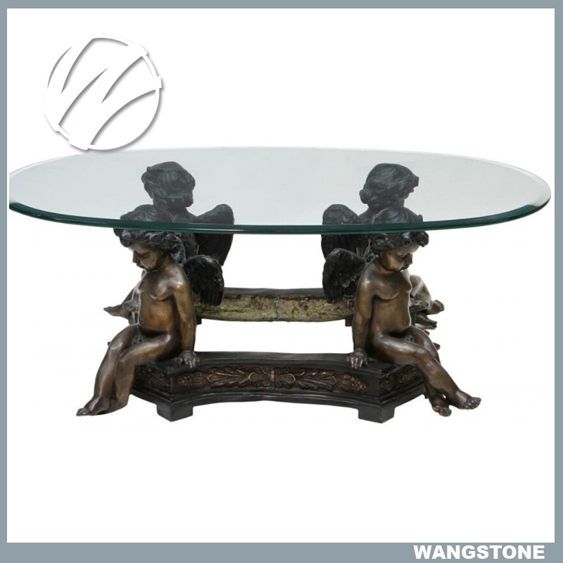 Bronze Woman Coffee Table: 2016 New Products Woman Bronze Sculpture Coffee Table