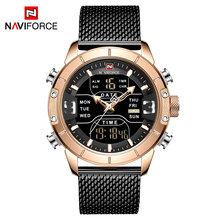 NAVIFORCE Мужские Аналоговые кварцевые часы, мужские военные спортивные часы, мужские водонепроницаемые наручные часы с хронографом(Китай)