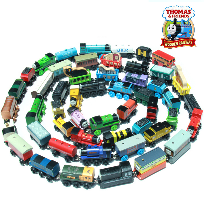 Superb 53 Model 10Pcs Lot New Thomas Anime Wooden Railway Trains Toy Model Great Kids Toys For Children Christmas Gifts Machost Co Dining Chair Design Ideas Machostcouk