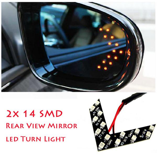 2 шт. / lot 14 SMD стиль проводная автомобиль поворотный предупреждение лёгкие автоматический из светодиодов украшение фары обратное направление сигналы поворота