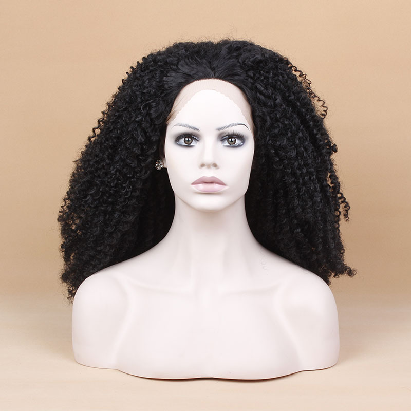 NewlookFREE SHIPPING # 1b color Synthetic Lace Front wig ...