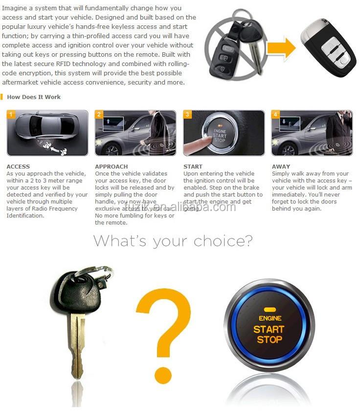 démarrage à distance sans clé pour les voitures installées