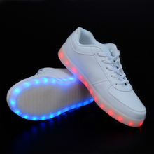 2015 Women lights up led luminous shoes Colorful glowing shoes with a new simulation sole led shoes for adults neon basket