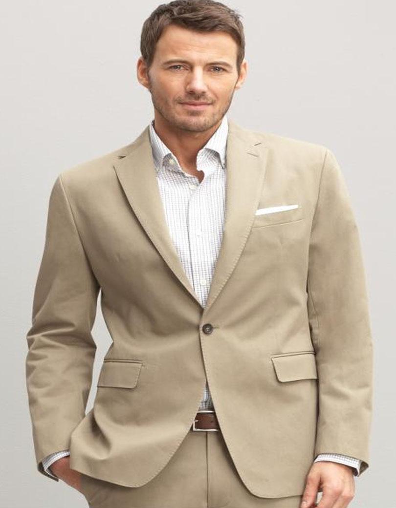 Beige Mens Suits Dress Yy