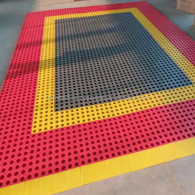 Interlocking Industrial Pvc Vinyl Floor Tile Garage Mat Pp