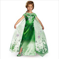 Retail New green Elsa Dress Summer 2015 elsa anna princess party vestido Dress Elsa fever Dress