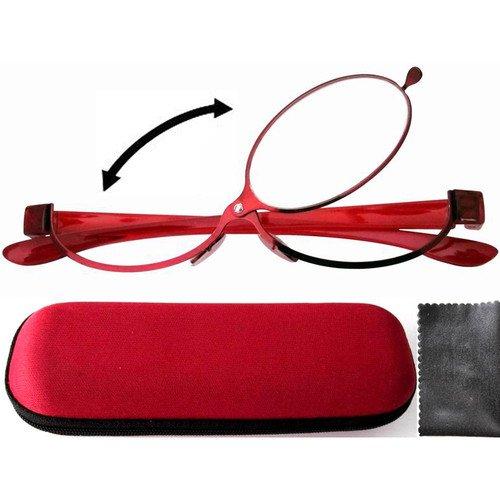 R11064 красной лакированной увеличительное макияж очки для чтения визаж откидной 1.50 / 2.0 / 2.50 / 2.75 / 3.00 / 3.25 / 3.50 / 4.0
