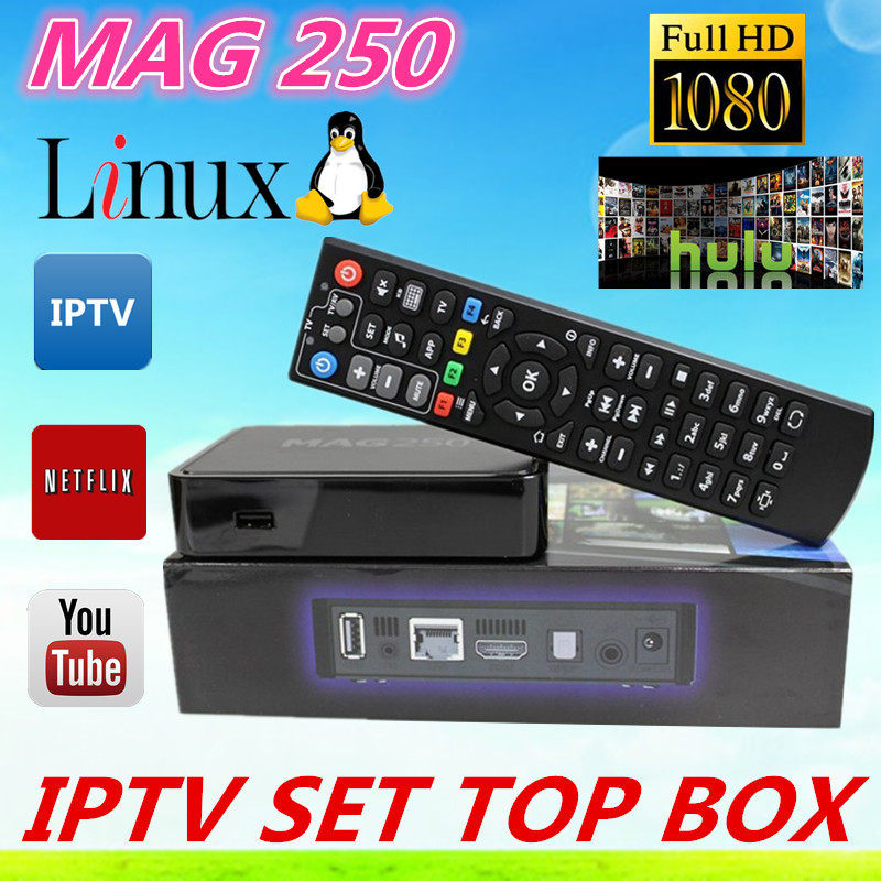 Free Shipping Mag250 IPTV TV Box Linux 2.6.23 System Iptv Set Top Box