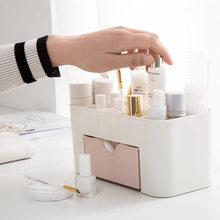 Многофункциональный пластиковый настольный органайзер для косметики, хлопковый держатель тампонов, органайзер для косметики(Китай)