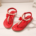 New Arrival Korean Girl Toddler Shoes Beading Princess Girls Pink Shoes 4 Colors Children Girls Gladiator