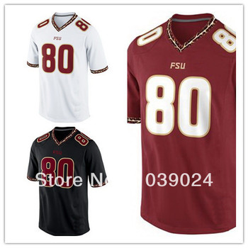 ee5541907de NWT FSU #80 Rashad Greene Jersey Black Red White Garnet Sewn College Football  Florida State Seminoles ...