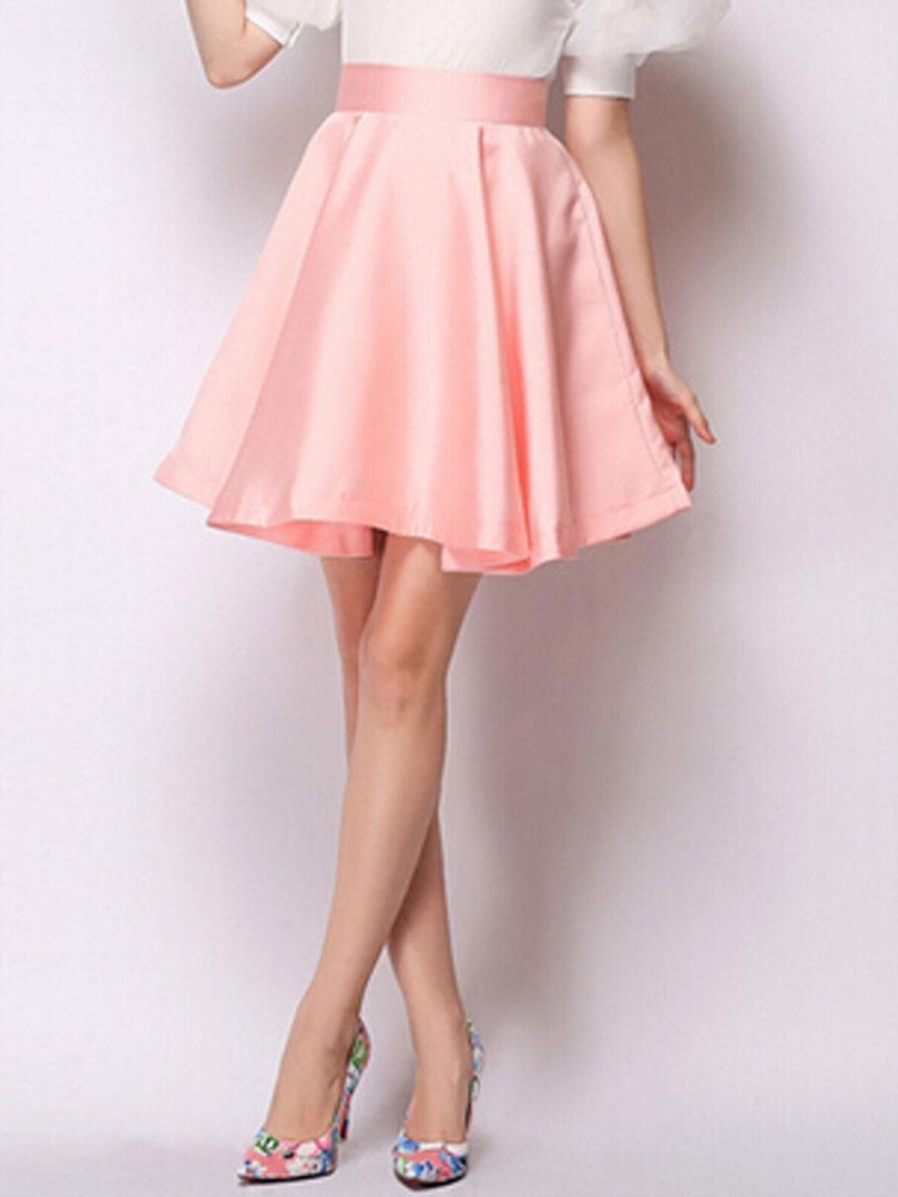 e0171ebf3 Light Pink High Waisted Skirt - Redskirtz