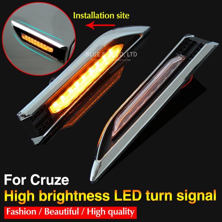 Для Chevrolet Cruze из светодиодов включите свет рулевого лампы из светодиодов сторона боковой габаритный указатели поворота авто из светодиодов лампы 12 В