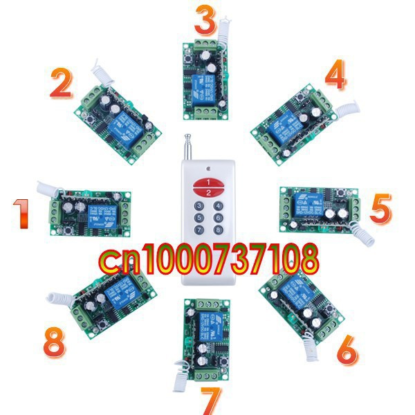 Free Shipping 12V 1ch Wireless Remote Control Light/door