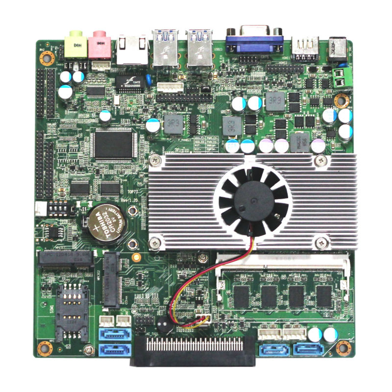 Tablet motherboard manufacturer for fanless industry MINI motherboard Intel core3 I5 3210M 2 5ghz