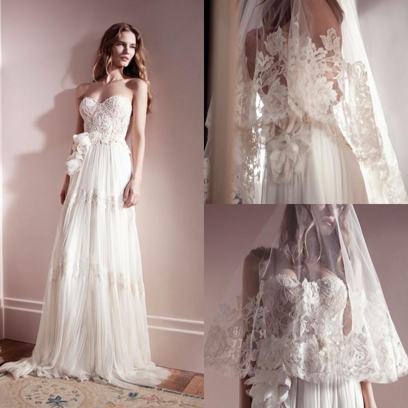 Custom 2015 New Vintage Sweetheart Lace Corset Wedding ...
