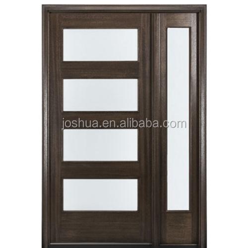 """4-lite Contemporary 96"""" Tall Mahogany Entry Doors And"""
