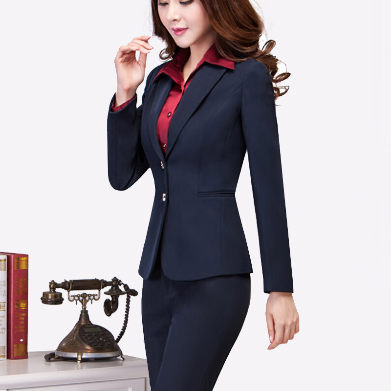 Navy Pant Suit Womens Dress Yy