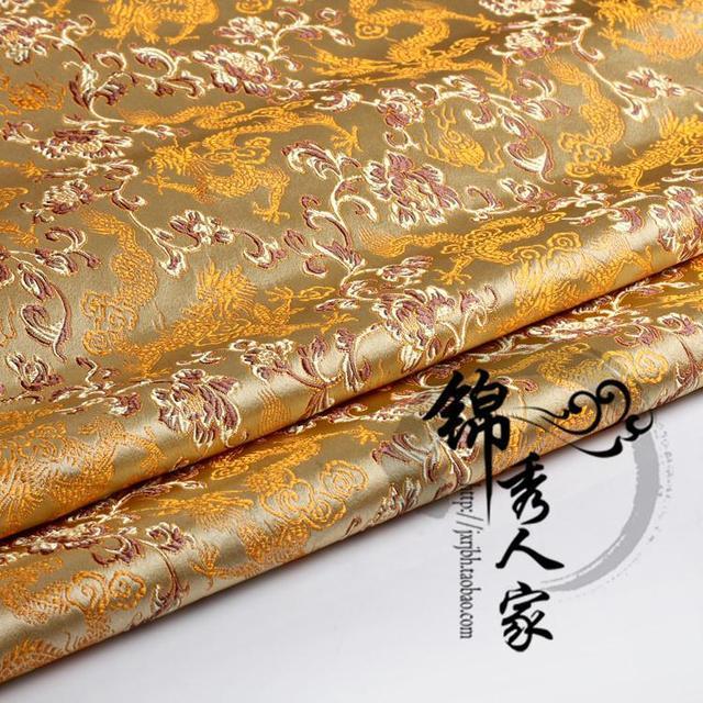 Damask flower Silk brocade Hanfu Kimono Tang Costume DIY