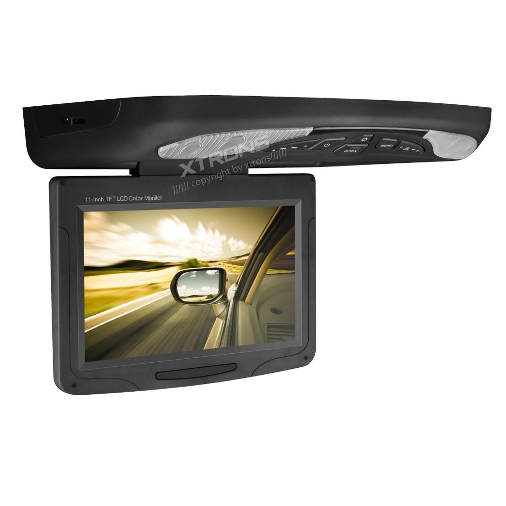 "XTRONS Black 11.3""Digital Monitor Flip Down Car Roof DVD"