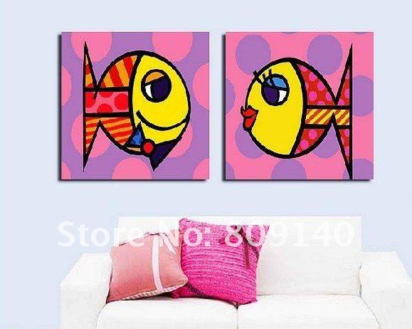 Kids Painted Fish fish oil painting for kids
