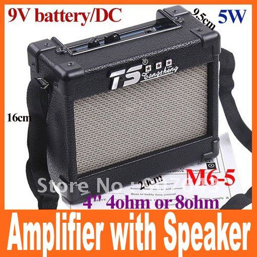 electric guitar amp amplifier with speaker volume tone control 5w 9v battery dcfree shipping in. Black Bedroom Furniture Sets. Home Design Ideas