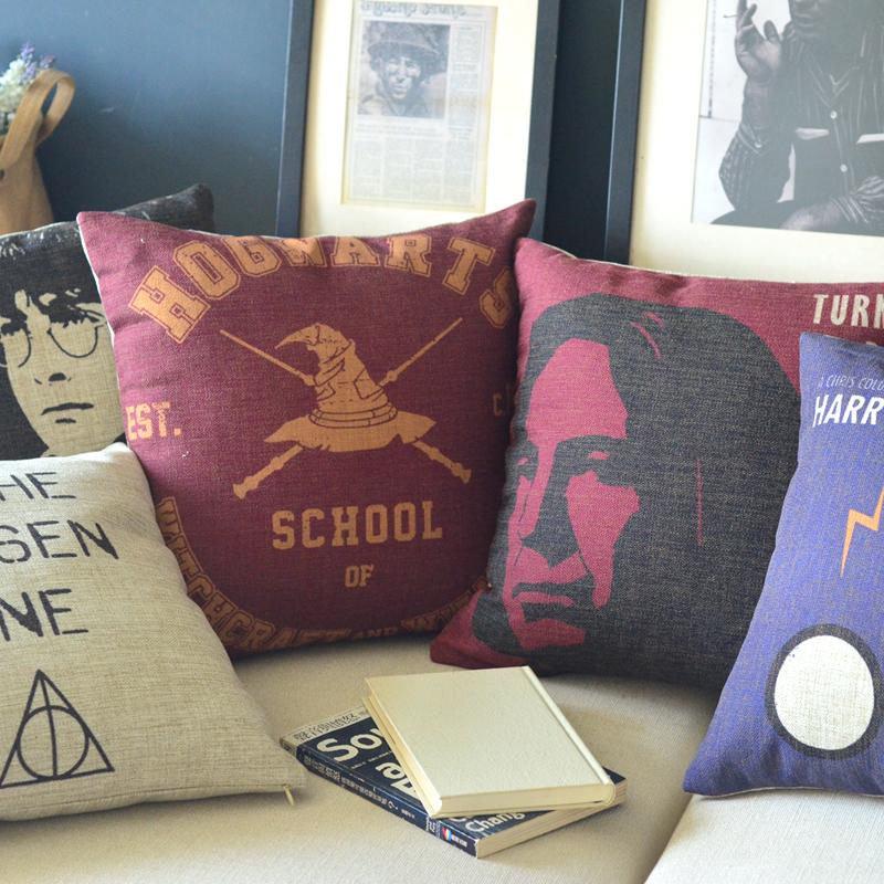 Free Shipping Linen Throw Pillow Hot Sale New Fashion Wedding Decor 45cm Harry Potter Star Wars Home Office Sofa Car Cushion