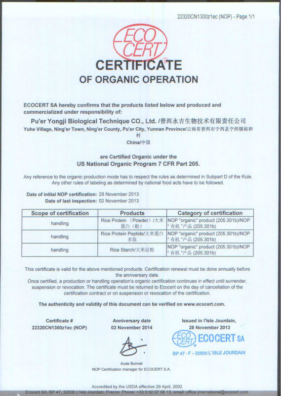 Health Certificate For Food South Africa