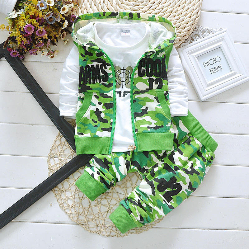 4f39a4d34720 Boys Clothes Autumn Winter Toddler Baby Boys Suit Cotton Camouflage ...