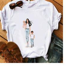 Футболка с надписью «Mama Gift», белая футболка из 100% хлопка для женщин и мальчиков, летние мягкие повседневные женские топы, хипстерские модные...(Китай)
