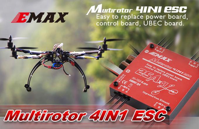 Original EAMX 4 IN 1 25A Quadcopter ESC With 4 BEC For DIY Mini Drone