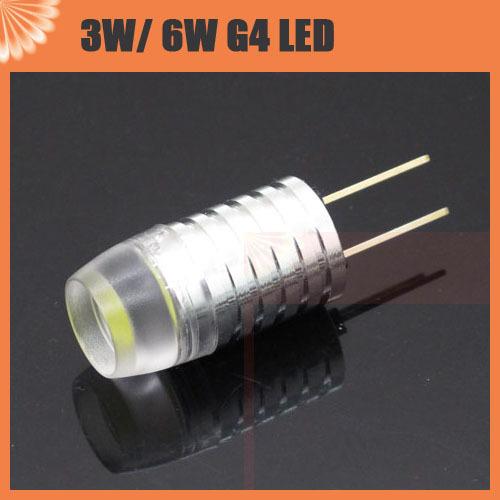 buy g4 3w 6w led corn bulb spot light dc 12v non polar lens high power for. Black Bedroom Furniture Sets. Home Design Ideas
