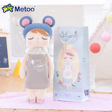 Мягкие плюшевые игрушки Metoo, мягкие детские игрушки для девочек и мальчиков с героями мультфильмов Анжелой и кроликом(Китай)