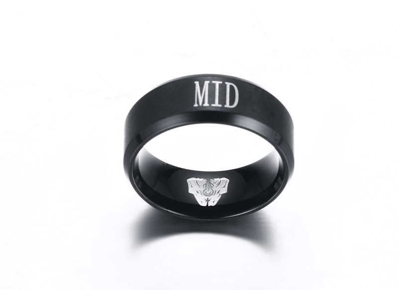 316l Stainless Steel Lol Rings Letter New Fashion Trendy