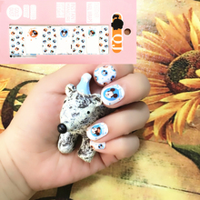 White Bule Cute Mouse child Nail Arts Nail Sticker Waterproof Nail Decal Sticker Gel Polish French