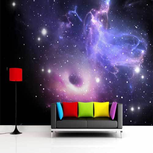 free shipping bright galaxy universe wallpaper wall mural ceiling space wallpaper for. Black Bedroom Furniture Sets. Home Design Ideas