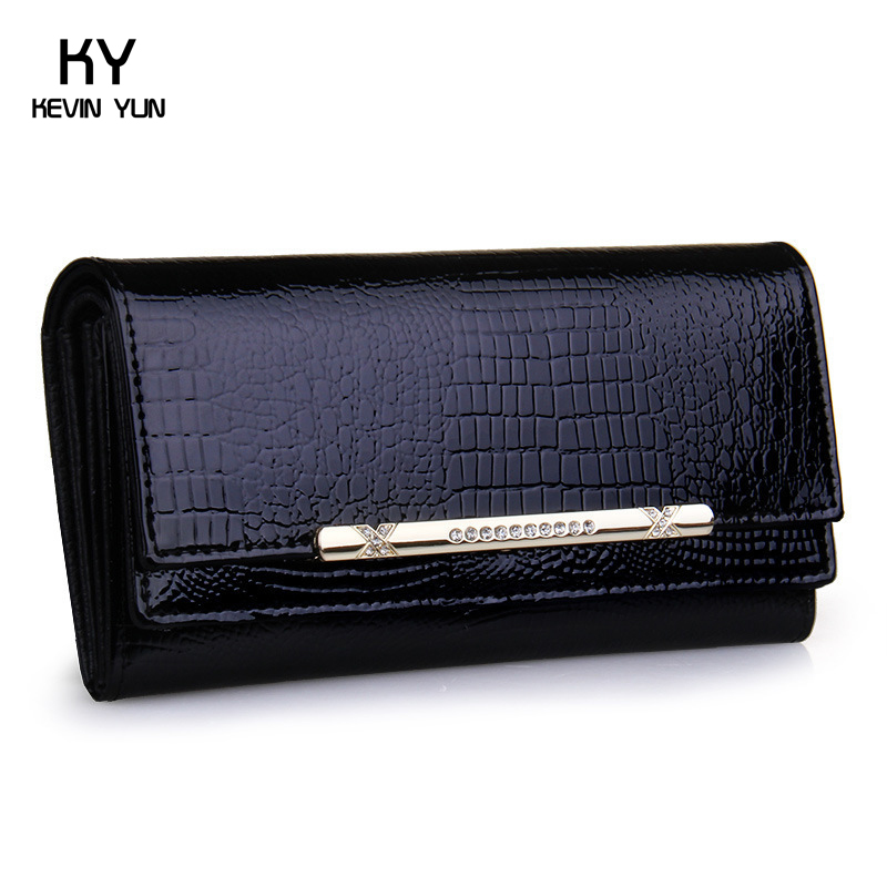 2016 luxury crocodile women wallets genuine leather high quality designer brand wallet lady fashion clutch casual