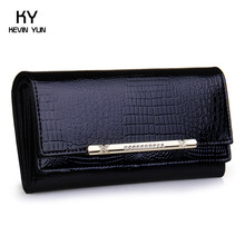 2014 luxury crocodile women wallets genuine leather high quality designer brand wallet lady fashion clutch casual womens purses