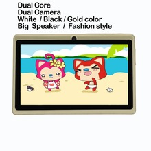 Big speaker Strengthen Volume 7 inch Android Tablet pc 512 Rom 8GB Ram Dual Camera Quad Core Gold Color Support Google Play