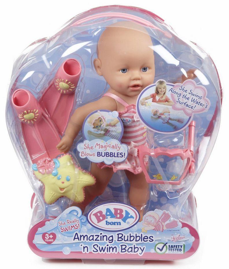 Hsb Toys Zapf Creation Baby Born Amazing Bubbles Swim Baby